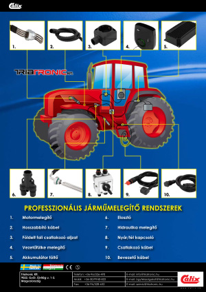 Traktor állóhelyi fűtés